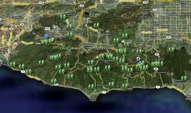 Santa Monica Mountain trailheads now on Google Maps | Pete ...